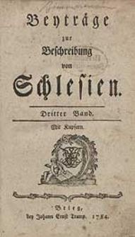 Beyträge zur Beschreibung von Schlesien Bd.3 1784