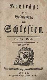 Beyträge zur Beschreibung von Schlesien Bd.4 1785