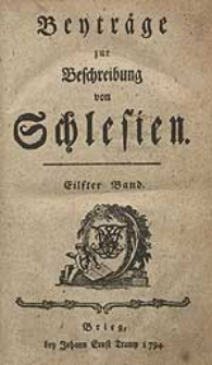 Beyträge zur Beschreibung von Schlesien Bd.11 1794