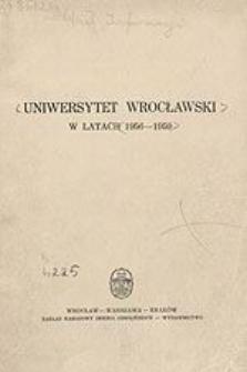 Uniwersytet Wrocławski w latach 1956-1959