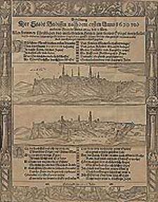Abbildung der Stadt Budissin nach dem ersten Anno 1620 und anderem Brande Anno 1634 den 2. May [...].