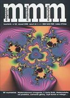 MMM Magazyn Miłośników Matematyki 2003 Nr 1 (2)