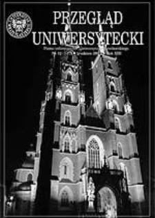 Przegląd Uniwersytecki (Wrocław) R.13 Nr 12 (141) grudzień 2007