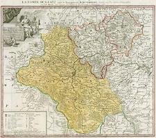 Comitatus Glaciensis. Tabula geogr[aphica...] ex autographis delineationibus depromta Edentibus Homannianis Heredibus