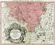 Marchionatus Moraviae Circulus Olomucensis quem mandato caesareo accurate emensus hac mappa delineatum exhibet Jo. Chr. Müller [...]
