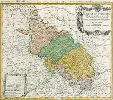 Ducatus Silesiae Tabula geographica generalis, statui hodierno, ei nempe qui post pacem Dresdensem locum obtinet, adaptata iustaque Graduatione rectificata per Tob. Maier