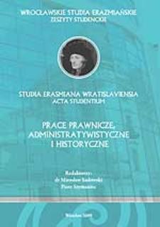 Wrocławskie Studia Erazmiańskie. Zeszyty Studenckie - Wstęp