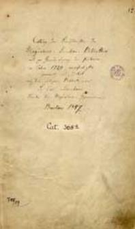 Catalog der Handschriften der Magdalenen-Kirchen-Bibliothek
