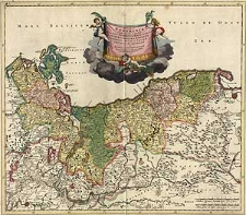 Ducatus Pomeraniae tabula generalis in qua sunt Ducatus Pomeraniae, Stettinensis, Cassubiae, Vandaliae, et Bardensis, Principatus Rugiae ac Insulae, Comitatus Guskovensis et Dominia Louwenburgense Wolgastense et Butoviense