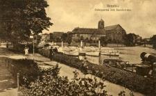 Breslau. Oderpartie mit Sandkirche