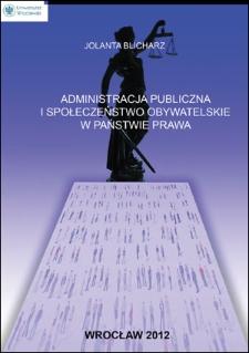 Administracja publiczna i społeczeństwo obywatelskie w państwie prawa