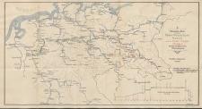 Ueberichts-Karte des Rhein-Weser-Elbe-Kanals und des Oder-Elbe-Kanals mit den anschliessenden Wasserstrassen