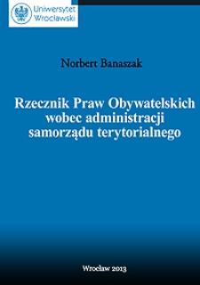 Rzecznik Praw Obywatelskich wobec administracji samorządu terytorialnego