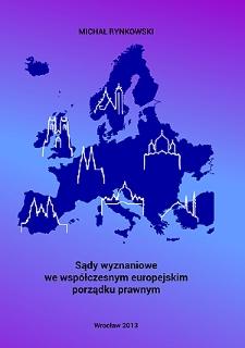Sądy wyznaniowe we współczesnym europejskim porządku prawnym