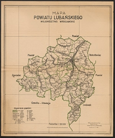 Mapa powiatu lubańskiego : woj. wrocławskie