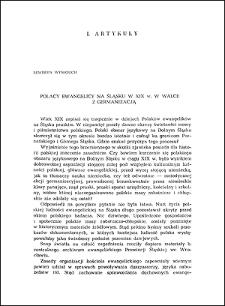 Polacy ewangelicy na Śląsku w XIX w. w walce z germanizacją