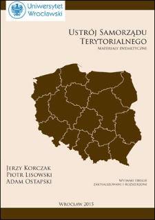 Ustrój samorządu terytorialnego : materiały dydaktyczne. Wydanie drugie, zaktualizowane i rozszerzone
