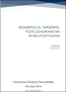 Segmentacja, targeting, pozycjonowanie na rynku politycznym