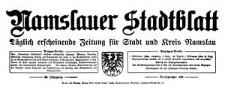 Namslauer Stadtblatt. Täglich erscheinende Zeitung für Stadt und Kreis Namslau 1940-03-02/03 Jg. 68 Nr 53