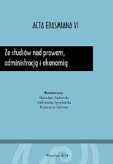 Ze studiów nad prawem, administracją i ekonomią
