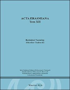Acta Erasmiana. 2016, 12
