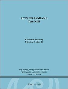 Acta Erasmiana. 2016, 13