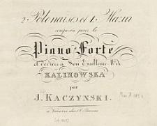 2 Polonaises et 1. Mazur [...]