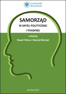 Samorząd w myśli politycznej i prawnej
