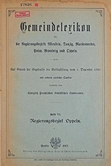 Gemeindelexikon. Auf Grund der Ergebnisse der Volkzählung vom 1. Dezember 1910 und anderer amtlichen Quellen