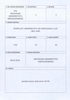 Vorlesungs- und Personal-Verzeichnis der Schlesischen Friedrich Wilhelms-Universität zu Breslau, Sommer-Semester 1926
