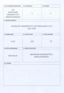 Vorlesungs- und Personal-Verzeichnis der Schlesischen Friedrich Wilhelms-Universität zu Breslau, Winter-Semester 1933/34