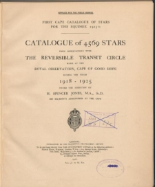 Catalogue of 4569 stars from observations with the reversible transit circle