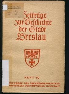 Das Wehrrecht der Stadt Breslau unter besonderer Berücksichtigung der habsburgischen Zeit