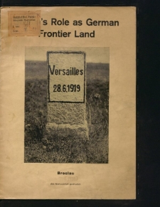 Silesia's role as German frontier land