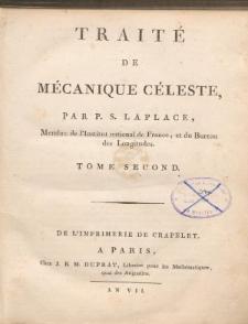 Traité de Mécanique Céleste. T. II