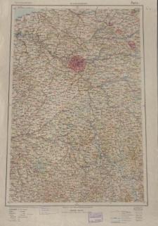 Übersichtsblatt der Operationskarte 1:800 000 - Paris