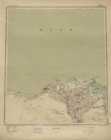 Übersichtsblatt der Operationskarte 1:800 000 - Kairo
