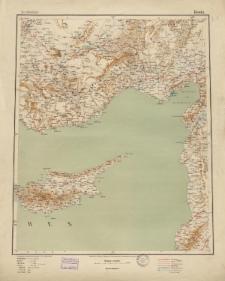 Übersichtsblatt der Operationskarte 1:800 000 - Konia