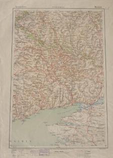 Übersichtsblatt der Operationskarte 1:800 000 - Rostow