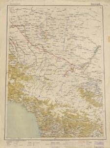 Übersichtsblatt der Operationskarte 1:800 000 - Stawropol
