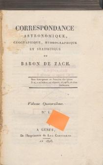 Correspondance Astronomique, Géographique, Hydrographique et Statistique. Vol. XIV.