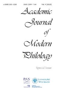Academic Journal of Modern Philology, Vol. 9 (2020)