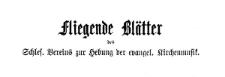 Fliegende Blätter des Schlesischen Vereins zur Hebung der evangelischen Kirchenmusik 1881 Jg. 12 [13] Nr 6