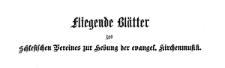 Fliegende Blätter des Schlesischen Vereins zur Hebung der evangelischen Kirchenmusik 1878 Jg. 10 Nr. 1
