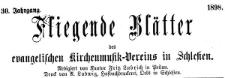 Fliegende Blätter des Schlesischen Vereins zur Hebung der evangelischen Kirchenmusik 1898-01 Jg. 30 Nr 1