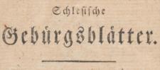 Schlesische Gebürgsblätter. Eine Wochenschrift 1801-11-07 Heft 5 Jg. 1