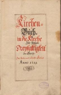 Kirchen-Buch in die Kirche zur heiligen Dreyfaltigkeit zu Görlitz im Jahr 1719