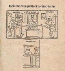 Opera cum commentis Porphyrionis, Mancinelli, Acronis et Landini