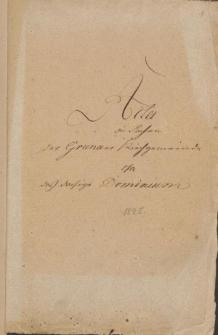 Kirchengemeinde ca/ Dominium: Pfarr-Viehstallbau 1825. Dienstablösung d. Görtner u. Haüsler 1827/31. Rönisch 1826 u. 29. Pfarr Deputatholz, Kirchensteg, Kantorgenuss Zettel 1832/43