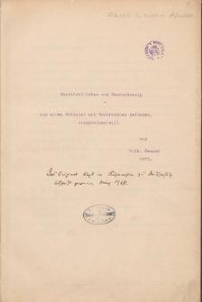 Geschichtliches von Deutsch Ossig aus alten Urkunden und Nachrichten gefunden zusammengestellt